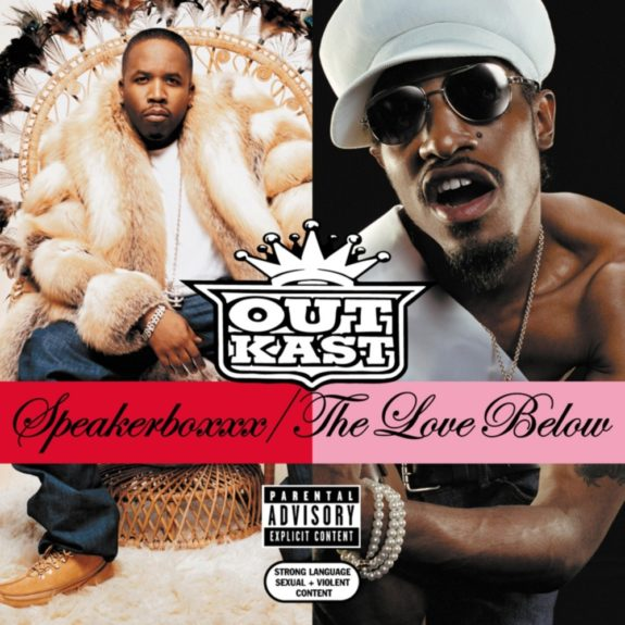 Bursting out of the Grammy Awards' segregated hip-hopcategory, 2003's double-album <em>Speakerboxxx/The Love Below</em> took home the prize for Best Album of the Year, <em>period</em>
