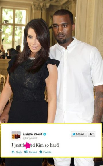 Nothing was left to the imagination after Kanye tweeted about a sexual experience with girlfriend, Kim Kardashian