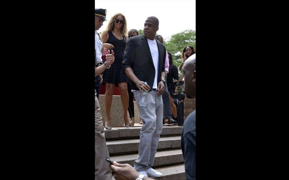Jay Z and Beyoncé at the Justice for Trayvonrally