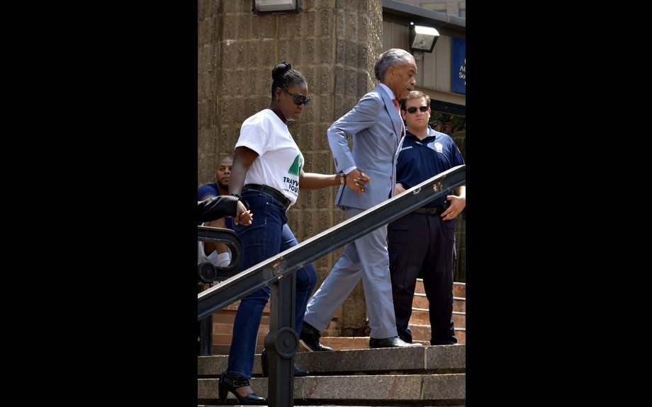 Al Sharpton andSybrina Fulton at the Justice for Trayvonrally in NYC