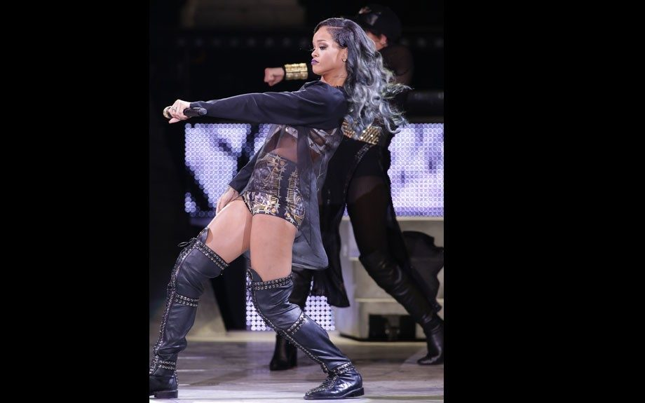 Rihanna performs live in concert at the Grand Stade Lille Metropole in Lille, France as part of her Diamonds World Tour