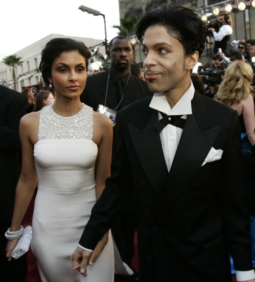 <p> Prince with his ex-wife Manuela Testolini(left) at the 77th Academy Awards in 2005 (AP Photo/Kevork Djansezian)</p>