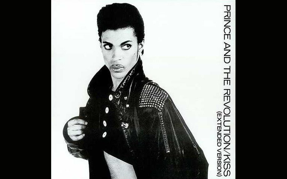 """""""Kiss"""" (1986). Another all-time-great contender for best Prince sleeve ever. Photographer Jeff Katz captures the pouty 27-year-old genius at the peak of his powers."""