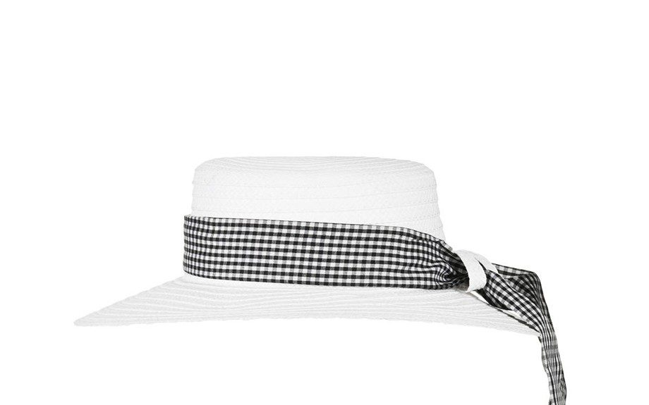 """Board a boat and block the sun and in thisTopshopStraw Gingham Boater Hat, $44;<a href=""""http://goo.gl/XwYUeO"""" target=""""_blank""""> www.topshop.com</a>"""