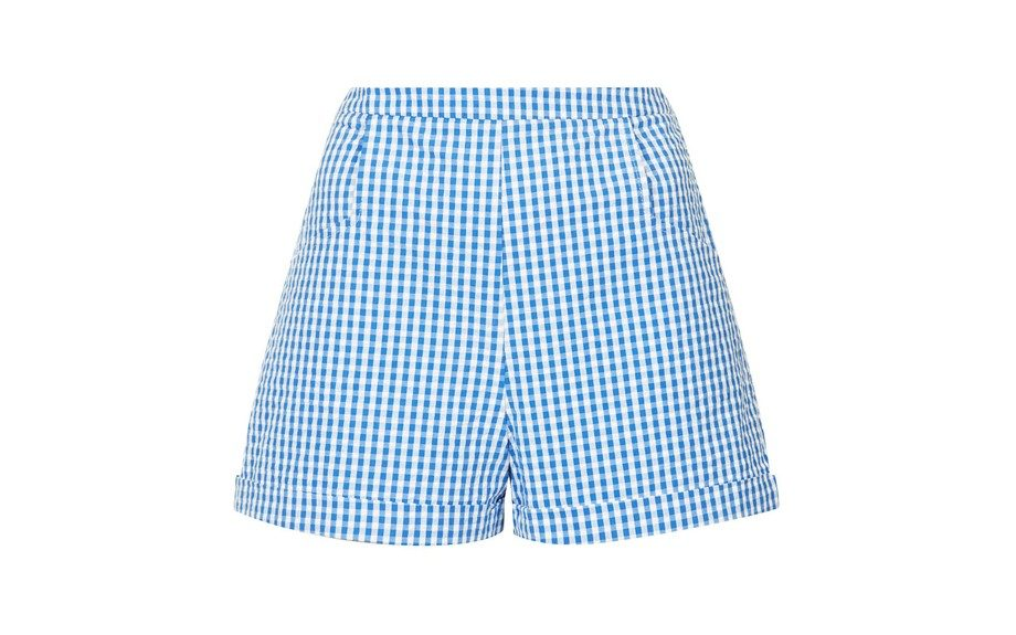 """There's no way you can go to the next picnic or cookout without wearing theseTopshopGingham Pocket Shorts, $72; <a href=""""http://goo.gl/QbzbsH"""" target=""""_blank"""">www.topshop.com</a>"""
