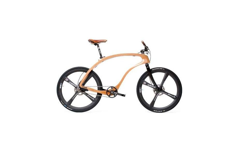 Wooden Ride: Bike lovers will obsess over this handcrafted cycle whose wooden frame can be customized to your liking. Waldmeister Bicycle (price available upon request; waldmeister-bikes.de)