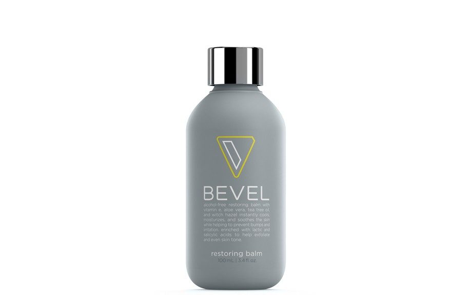 """<a href=""""https://getbevel.com/learn-more"""">The Restoring Balm</a>, is alcohol-free and cools, soothes and moisturizes the skin after a nice shave"""