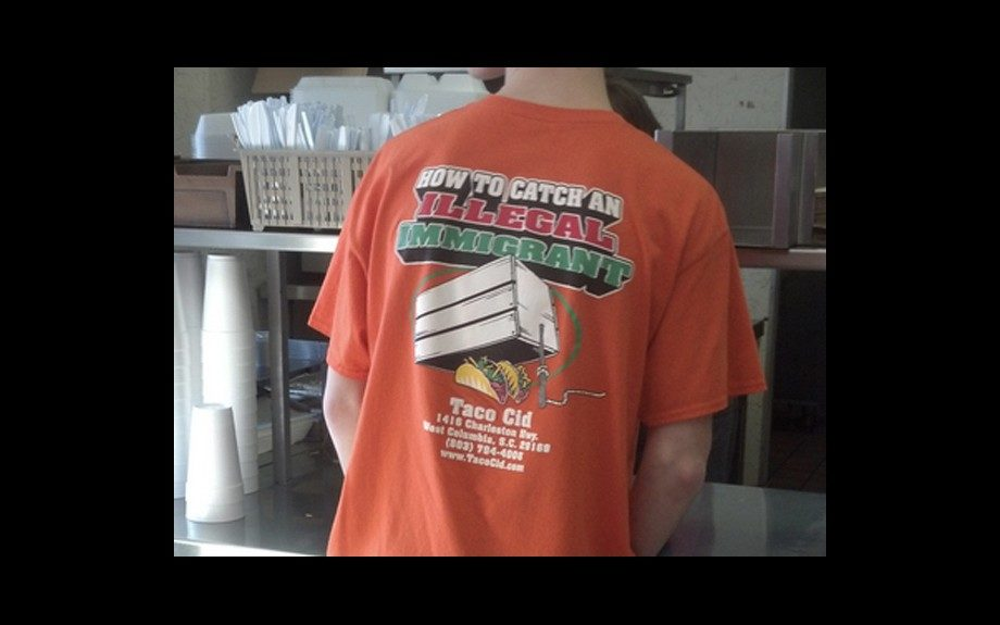 South Carolina Restaurant Forces Employees to Wear Racially Insensitive Shirt