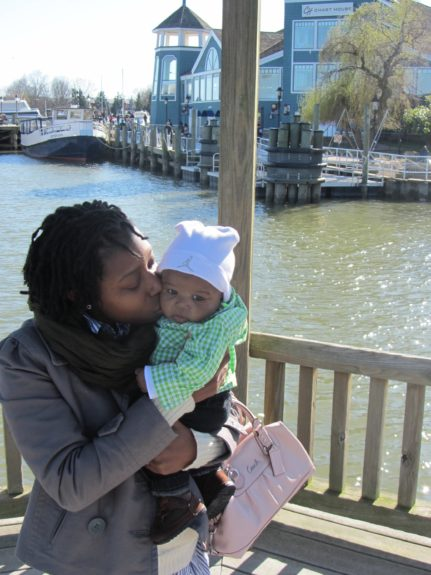 My <em>other</em> cousin, Rasheeda and her 1-year old little boy, Eric