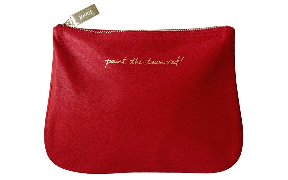"""Associate Beauty EditorJanellHickman is head over heels for this makeup case. Paint the Town Red """"it"""" Bag ($54; jouercosmetics.com, available in September 2013)"""