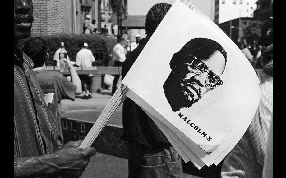 Malcolm, Million Youth March, Harlem, 1998