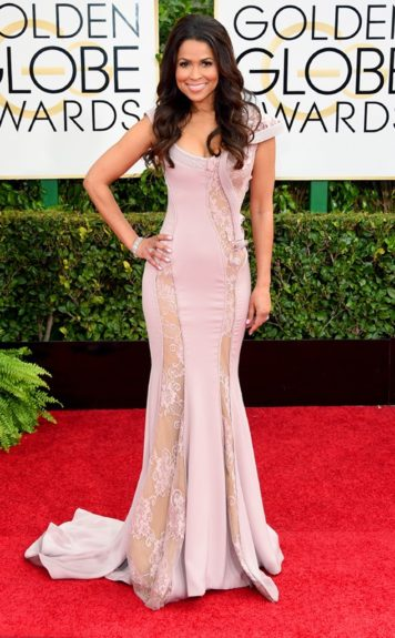 Gina Rodriguez at the 72nd annual Golden Globe Awards