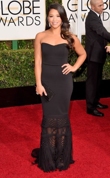 Tracey Edmonds at the 72nd annual Golden Globe Awards