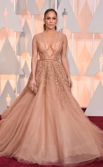 Jennifer Lopez, arriving at the87thannual Academy Awards in the DolbyTheatrein Hollywood