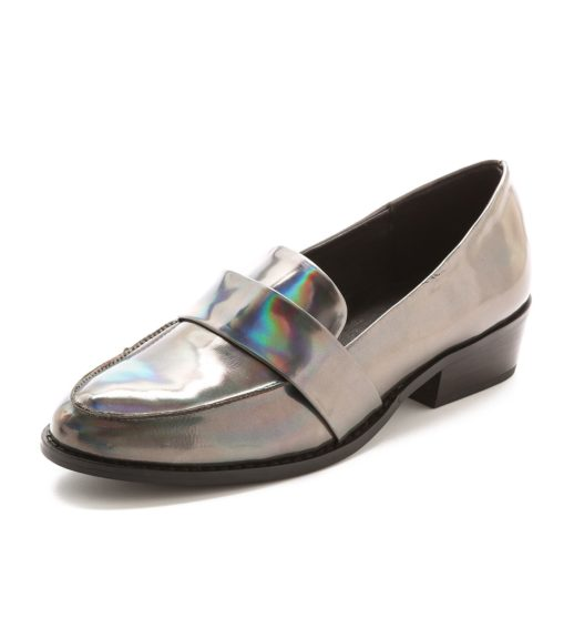 """Metallic shoes are usually worn in the spring and summer, but these SolSanaJules Loafers are toned down enough for fall, $155,<a href=""""http://www.shopbop.com/jules-loafer-sol-sana/vp/v=1/1557612738.htm?extid=affprg_CJ_SB_US-2205077-Polyvore-2687457"""">www.shopbop.com</a>"""
