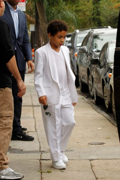Solange's 10-year-old Daniel Smith is too cool for school headed to the wedding of the year: his mom's! Credit: beyonce-contour.com