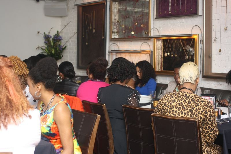 While dining, guests mixed and mingled