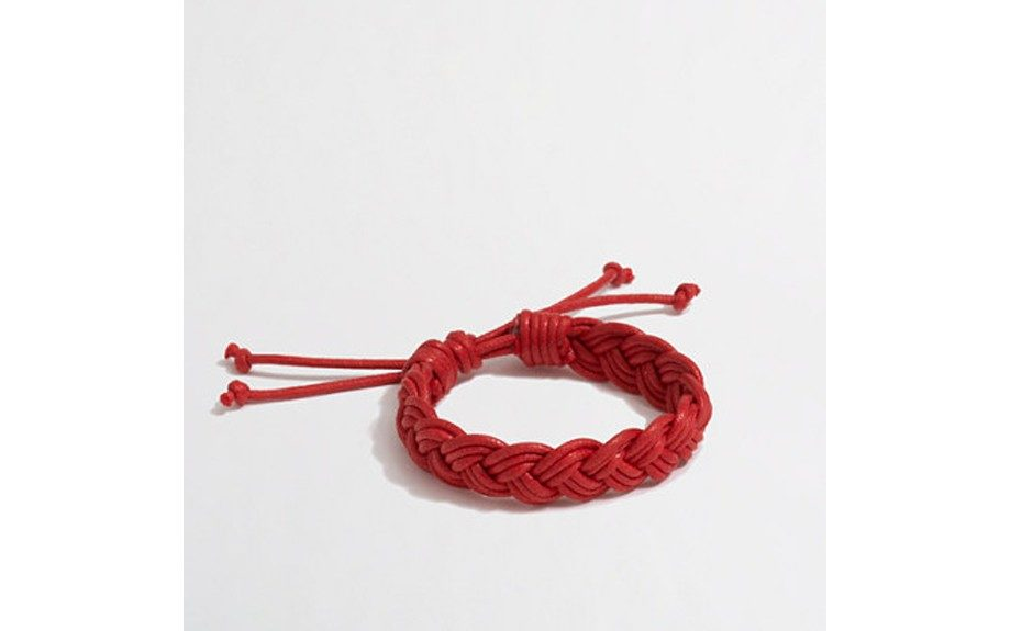 """<strong>For the Risk Taker:</strong>J.Crew Factory Cotton Braided Bracelet ($10,<a href=""""http://factory.jcrew.com/mens-clothing/bags_accessories/wallets_more/PRDOVR~02811/02811.jsp"""" target=""""_blank"""">factory.jcrew.com</a>)"""