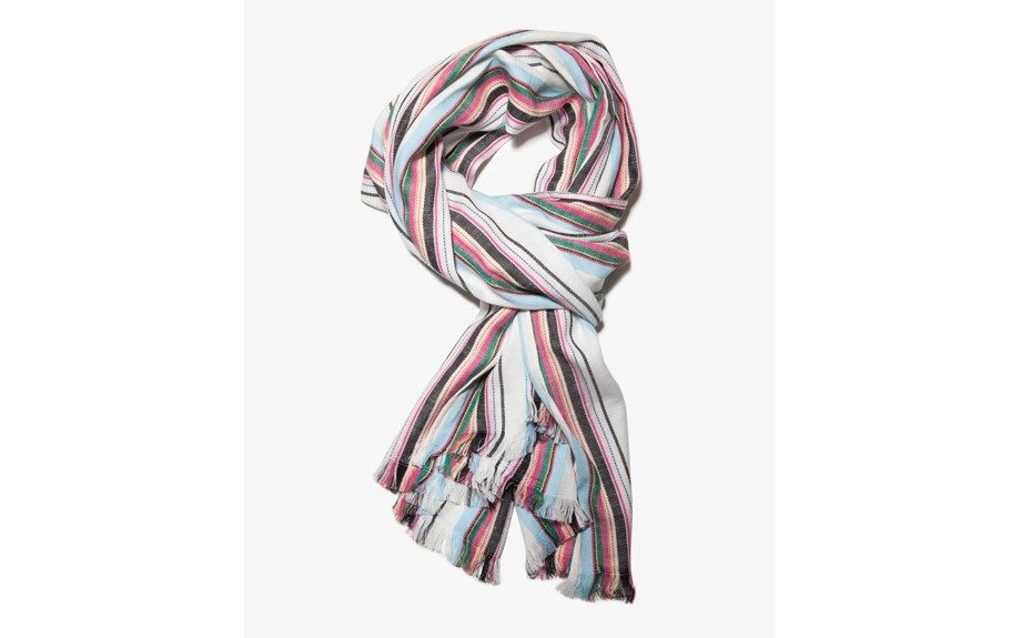 """<strong>For theBoho:</strong> Forever 21 Multi-Stripe Scarf ($10,<a href=""""http://www.forever21.com/Product/Product.aspx?BR=21men&Category=m_hats-scarves&ProductID=1049256997&VariantID="""" target=""""_blank"""">forever21.com</a>)"""