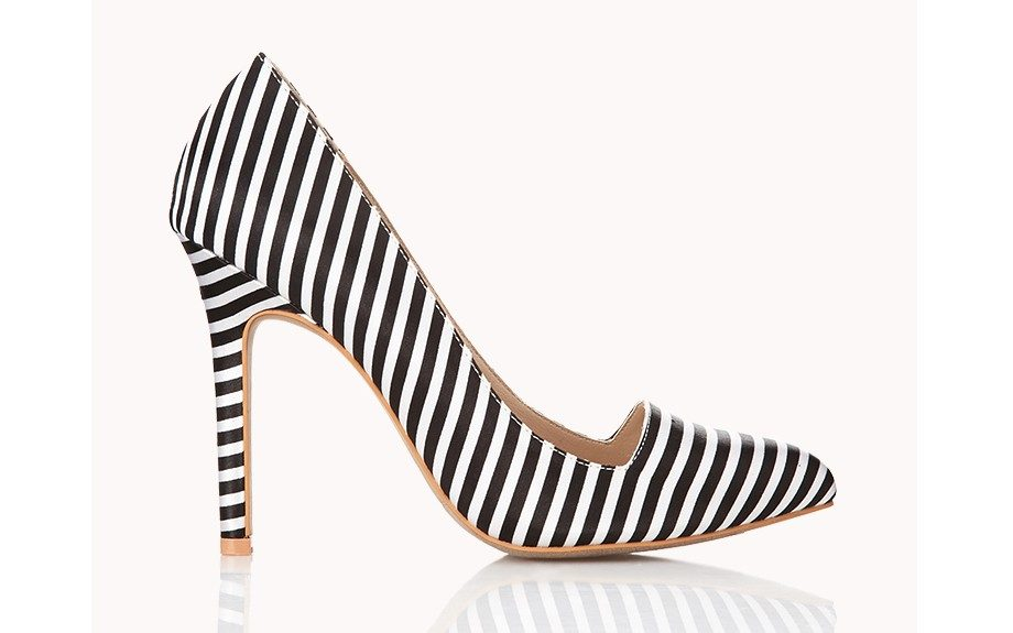 "For the career climber:  Forever 21 Standout Striped Pumps ($30, <a href=""http://www.forever21.com/Product/Product.aspx?BR=f21&Category=shoes&ProductID=2000051523&VariantID="" target=""_blank"">Forever21.com</a>)"