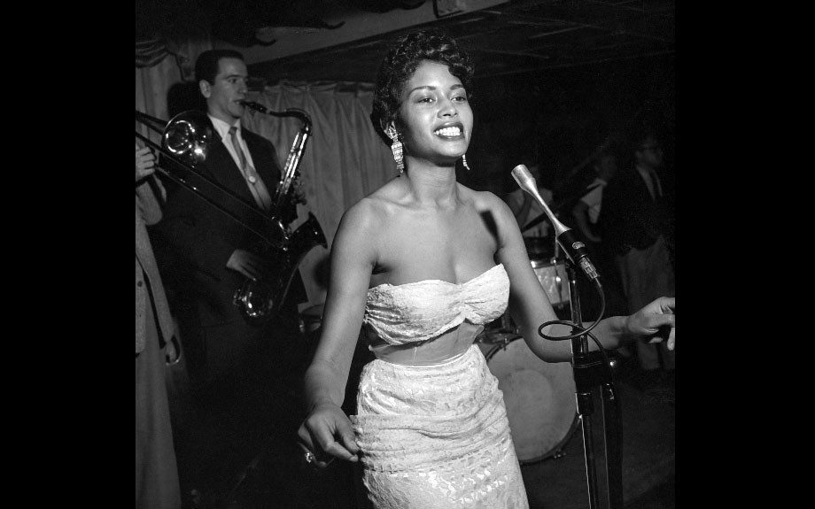 Abbey Lincoln, born Anna Marie Wooldridge, performed in Hawaii to prove herself. After two years on Pacific Isles, she has returned to Hollywood's supper clubs after, 1954. (Howard Morehead/EBONY Collection)