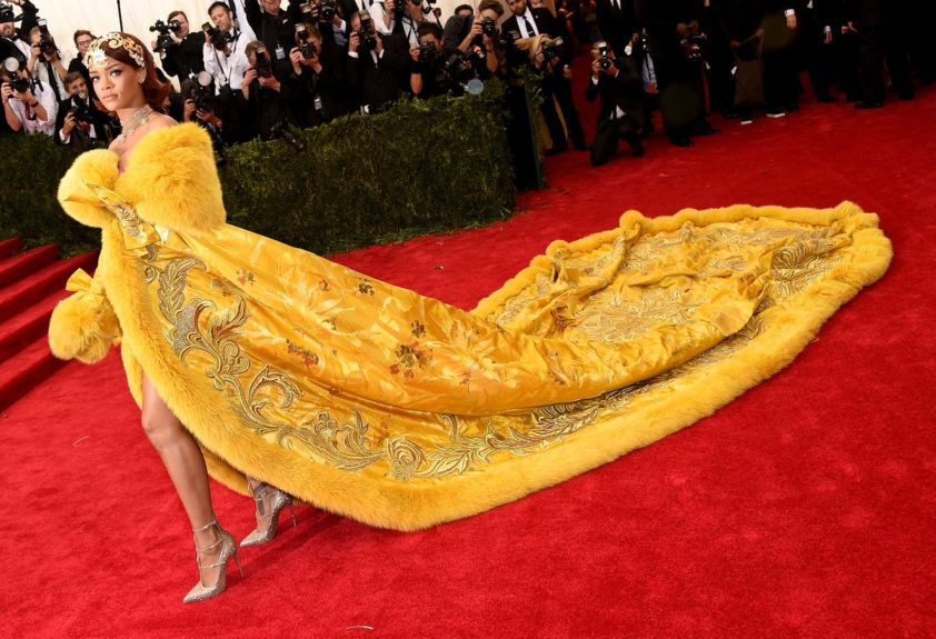 Rihanna at the 2015 Met Costume Institute Gala