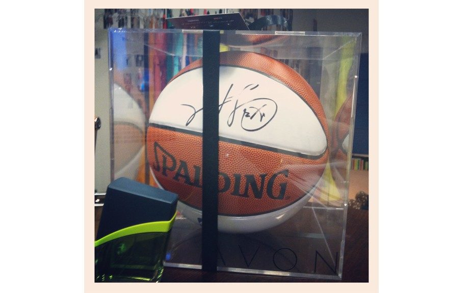 We love our very own autographed basketball by L.A. Clippers point guard Chris Paul!