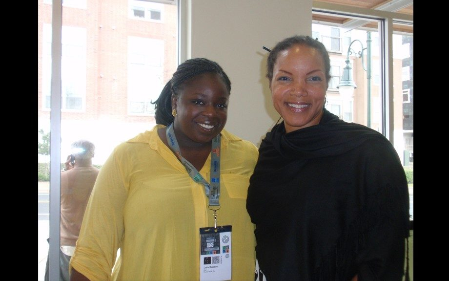 Titilola Bakare, Chief off Staff/Strategy Integration (left) and Belinda Matingou, Director of Business Development (right) both from Dell shared what's new in tech for entrepreneurs at the African-American Chamber of Commerce private kick-off event
