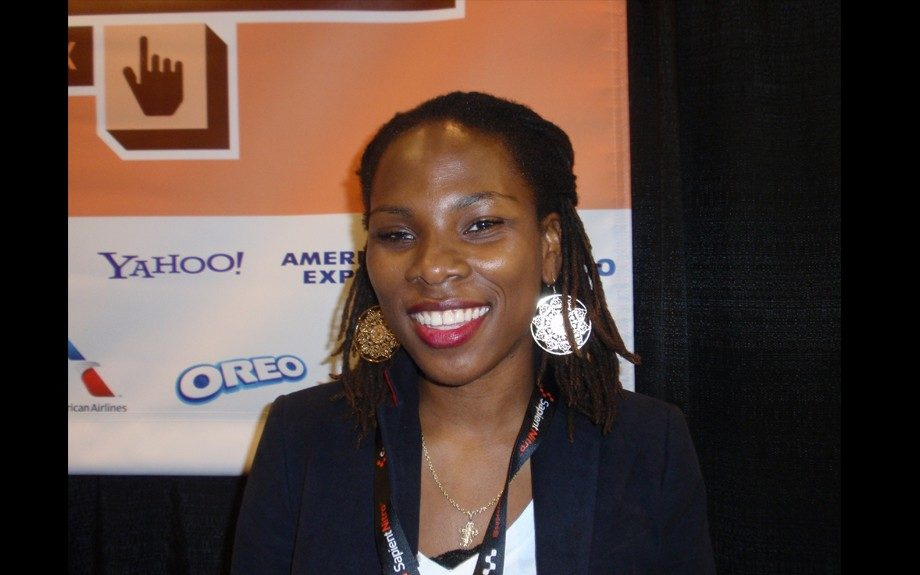Blogger Luuvie of Awesomely Luvvie served on the social media and #SCANDAL panel at Blacks in Tech