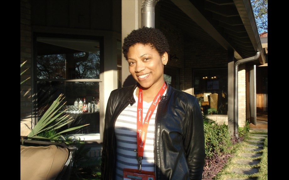 """SXSW newbie Kimbelry Bennett came to """"Silicon Canyon"""" to learn about what's new in tech. Seen here at the Digital Undivided event"""