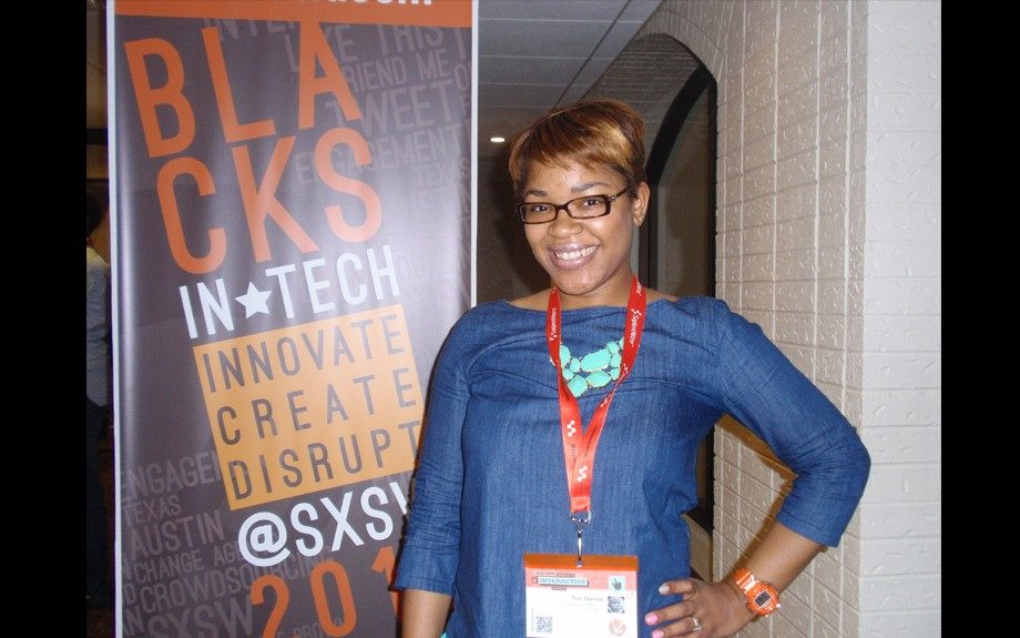 Blogger Tori Dorsey of Glitter and Glasses showed that techies can be stylish too while attending panels at the Blacks in Tech (BiT) House