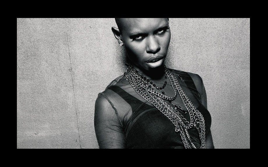 Skin is the longtime lead singer of celebrated British rock band Skunk Anansie