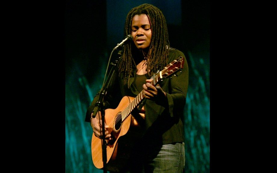 "Singer, songwriter and social activist Tracy Chapman brought African-American folk music to MTV with ""Fast Car"" and ""Give Me One Reason"""