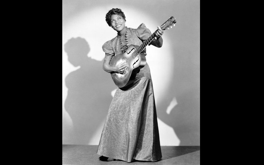 Sister Rosetta Tharpe mixed gospel with rock and roll, influencing Elvis Presely, Johnny Cash and Little Richard