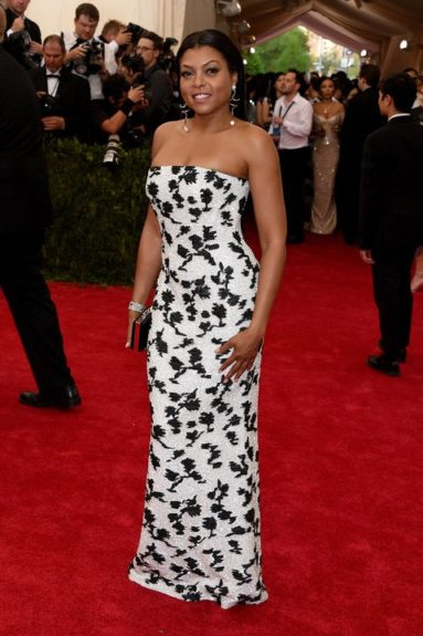 Taraji P. Henson at the 2015 Met Costume Institute Gala