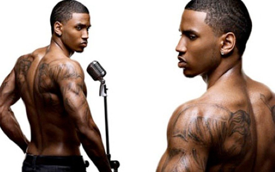 Sex symbol, Trey Songz, is not afraid to flaunt his tattoos, many of which represent moments, people and experiences in his life that have shaped him into the person he is today. These broken angel wings are hot pieces of art!
