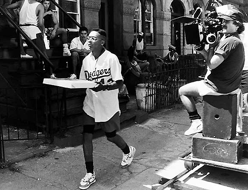 Filming in 1988, Spike Lee as Mookie was always doin' the right thing as he delivered pizza pies in Bed-Stuy.