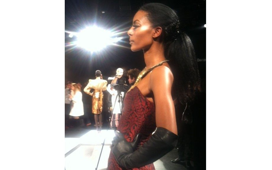 The lovely Gate Maya Samuelsson wowed the crowd at David Tlale's Fall 2013 presentation.