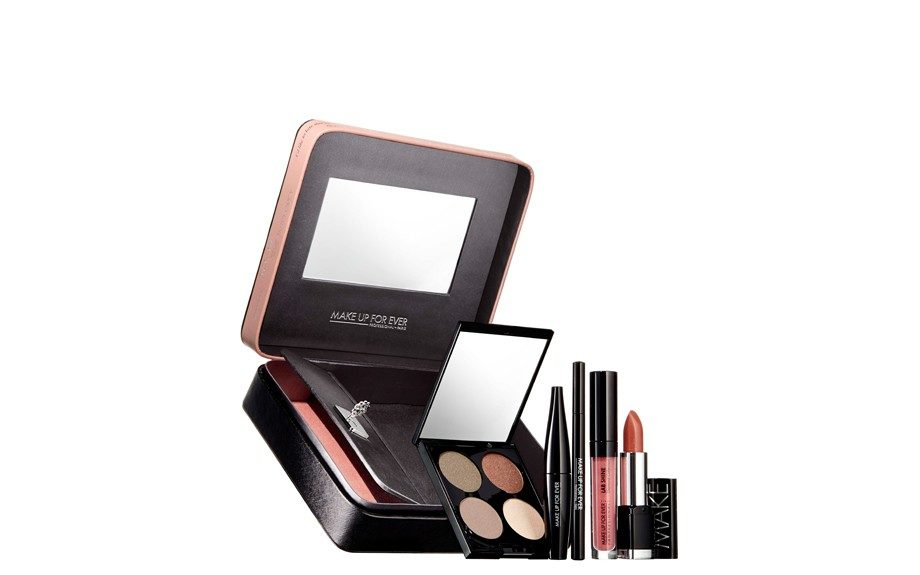 """MAKE UP FOR EVER Give in To Me Alluring Color for Eyes & Lips ($79;<a href=""""http://www.makeupforever.com/us/en-us/make-up/limited-edition/fifty-shades-grey/give-me"""" target=""""_blank"""">sephora.com</a>)"""