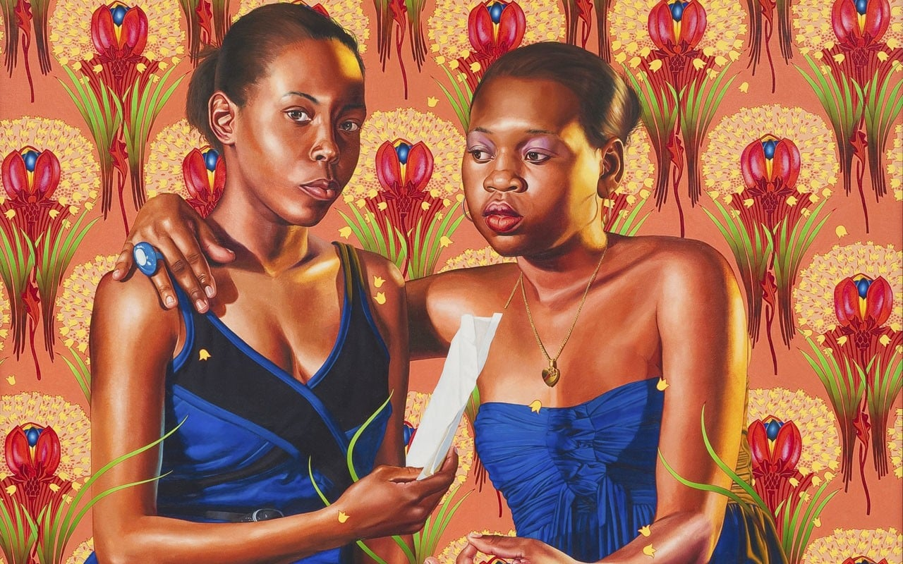 kehinde wiley paints brooklyn red  photos