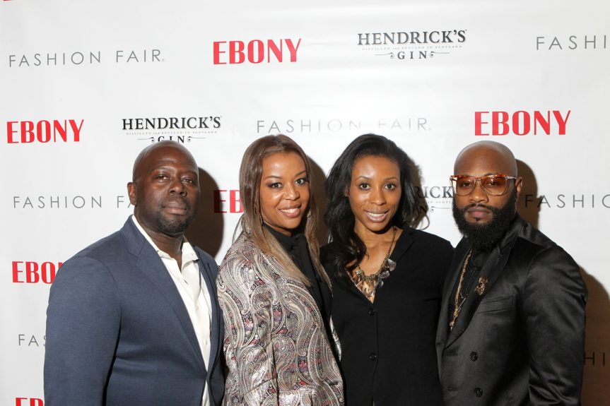 Lateef Sarnor, High Style publicist Jada Russell, Comb Enterprises' Rana Barclay and designer Jedda Khan