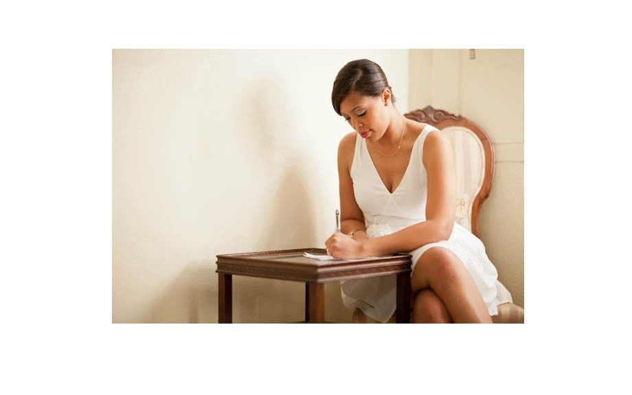 Kimberly Harris as she write before her wedding day