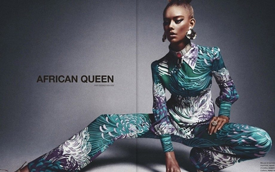 "White model Blackened up for ""African Queen"" editorial"