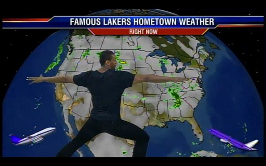 Metta World Peace does a Los Angeles local weather report