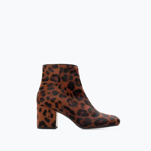 """These Zara High-Heeled Printed Leather Boots will give you a Saint Laurent look for a much lesser price. Get them while you can, $159,<a href=""""http://www.zara.com/us/en/woman/shoes/high-heeled-printed-leather-bootie-c269191p2214064.html"""">www.zara.com</a>"""