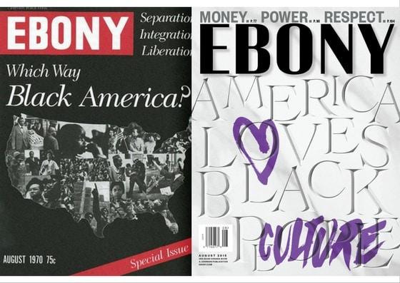EBONY Magazine Anniversary Covers