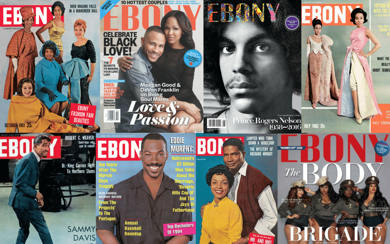 EBONY Magazine Covers Annivesary Feature