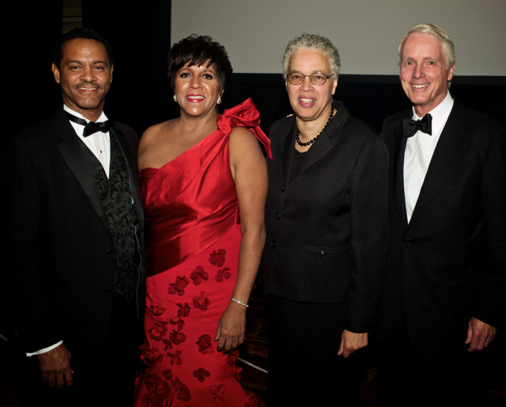 (left) Kevin Brookins of Common Wealth Edison, Chicago Urban League President and CEO Shari Runner, Cook County Board President Toni Preckwinkle and  Frederick Waddell of the Northern trust company