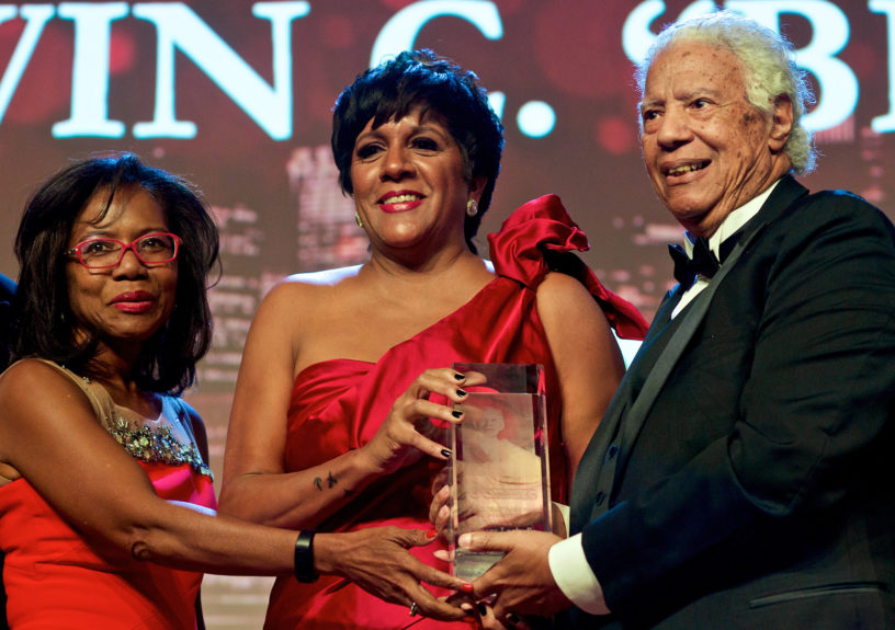 (left) Chicago Urban League Board Chairman Maria C Green, President and CEO Shari Runner and Bill C. Berry awardee  Chicago businessman and civil rights activist Spencer Leak, Sr.