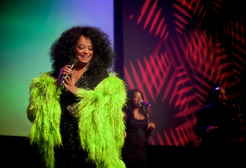 Legendary Diana Ross performing her many hits to a packed house during the Chicago Urban League's Golden Fellowship Dinner